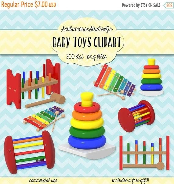 Thru only baby toys. Nursery clipart educational toy