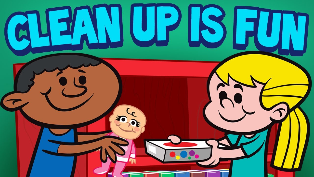 Clean up is children. Nursery clipart fun time