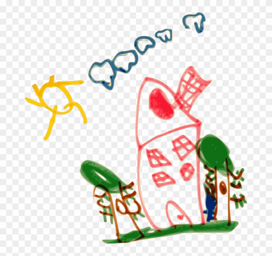 Nursery clipart kindergarten. School drawing child