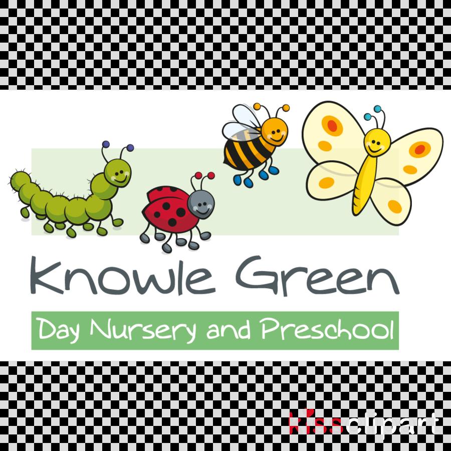 Nursery clipart logo. Green day child text