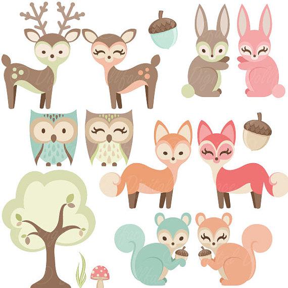 Woodland clipart preschool. Nursery baby animals clip