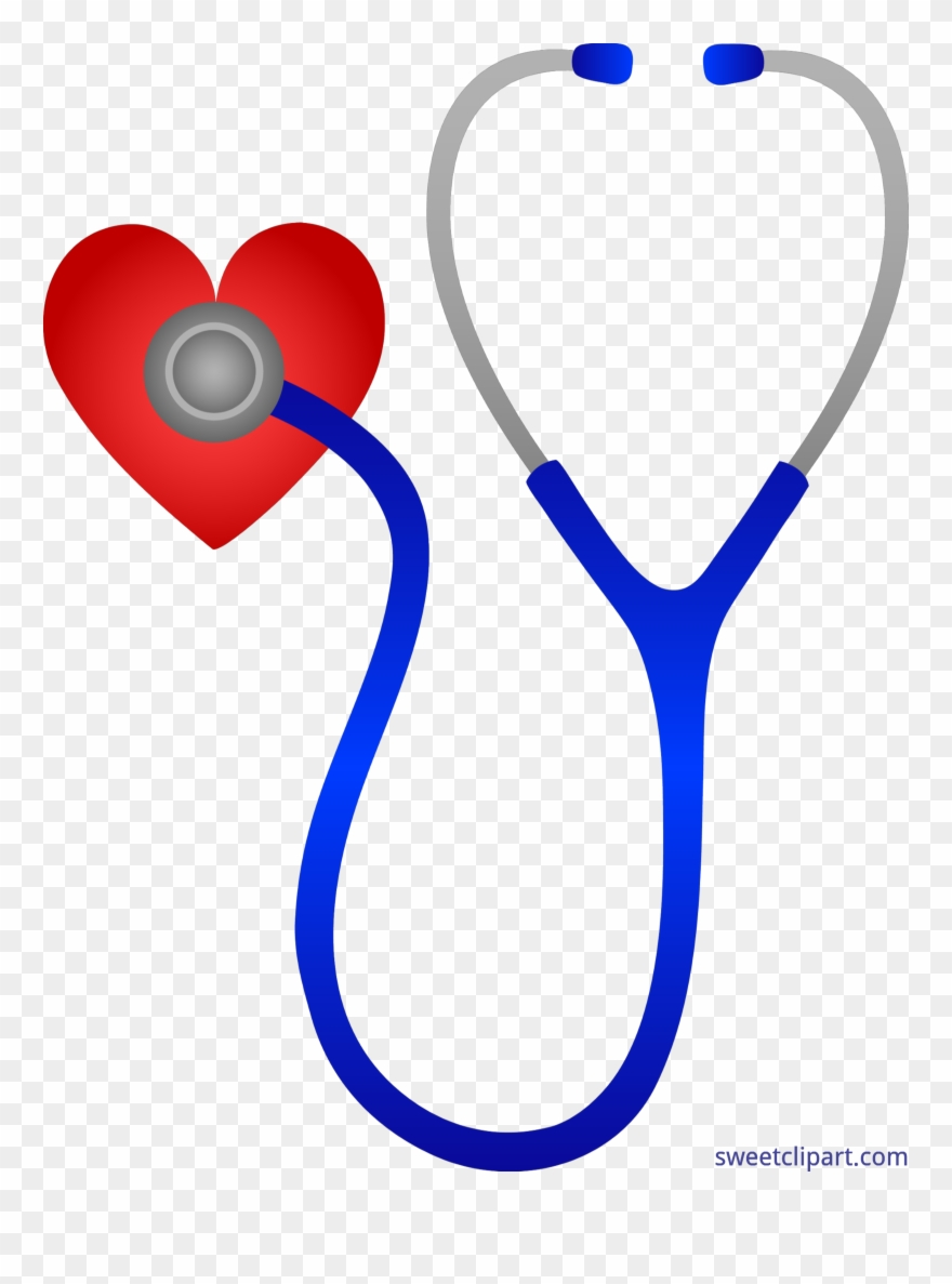 Clipart hearts doctor. Doctors stethoscope with heart