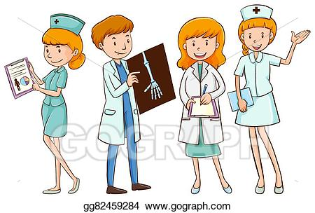 Vector stock doctors and. Nursing clipart director nursing