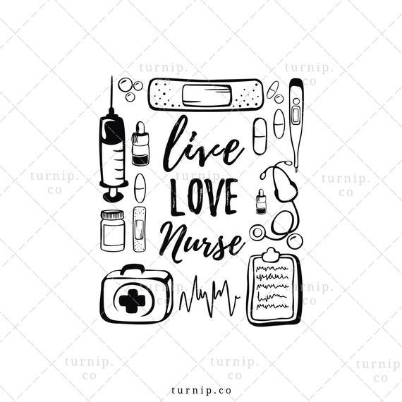 Nursing clipart love. Live nurse sublimation png