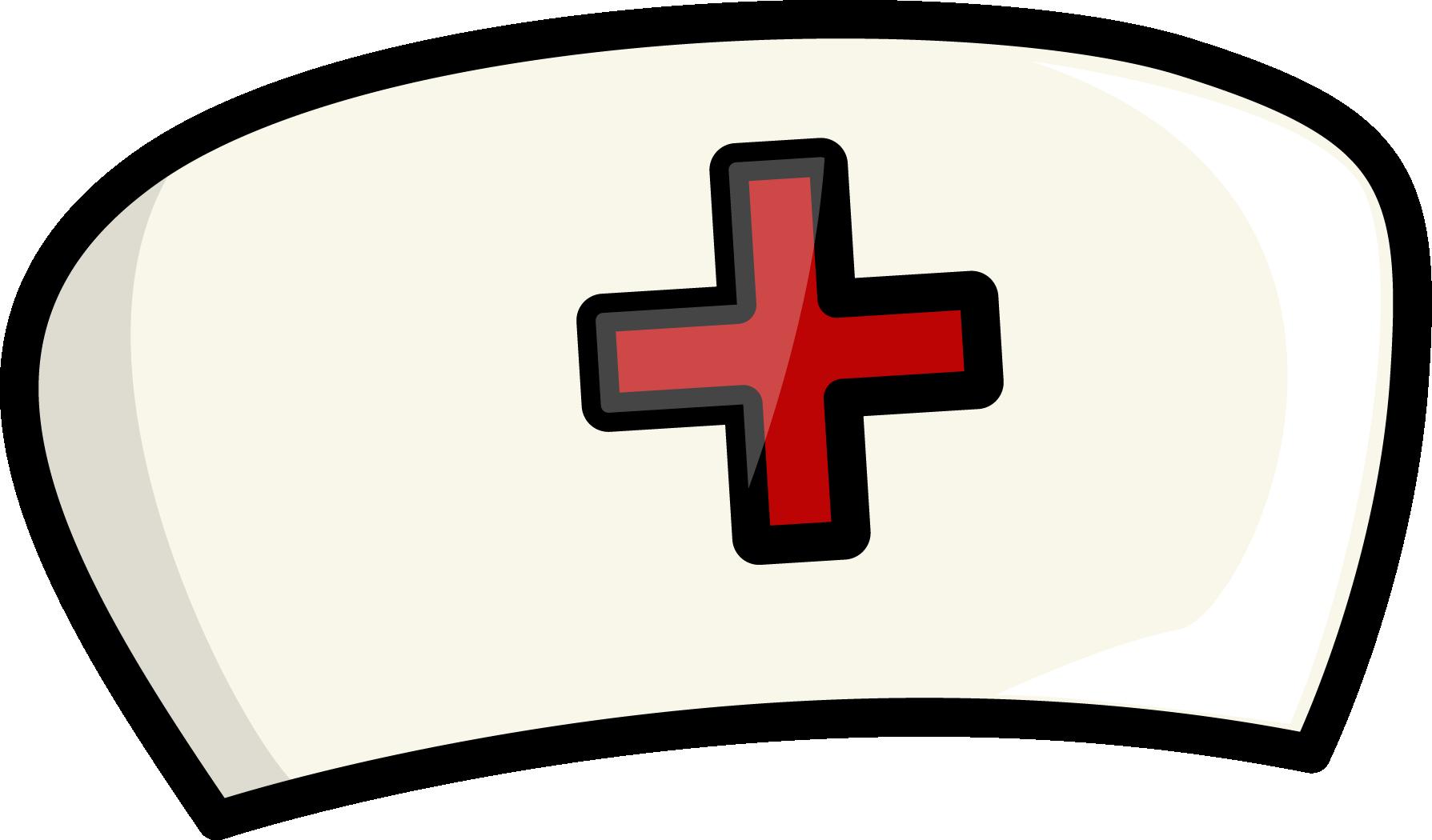 Cartoon nurses cap illustration. Nursing clipart nurse symbol