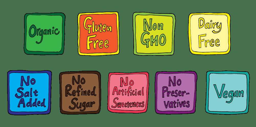 Organic gluten free fruit. Nut clipart assorted nut
