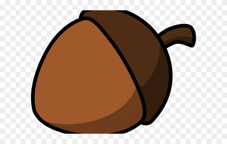 Cartoon transparent png . Nut clipart autumn acorn
