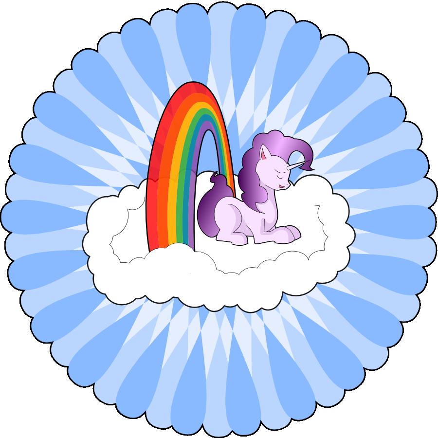 Unicorns and rainbows panda. Nut clipart baby