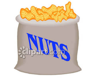 Peanuts clipart bag. In a royalty free
