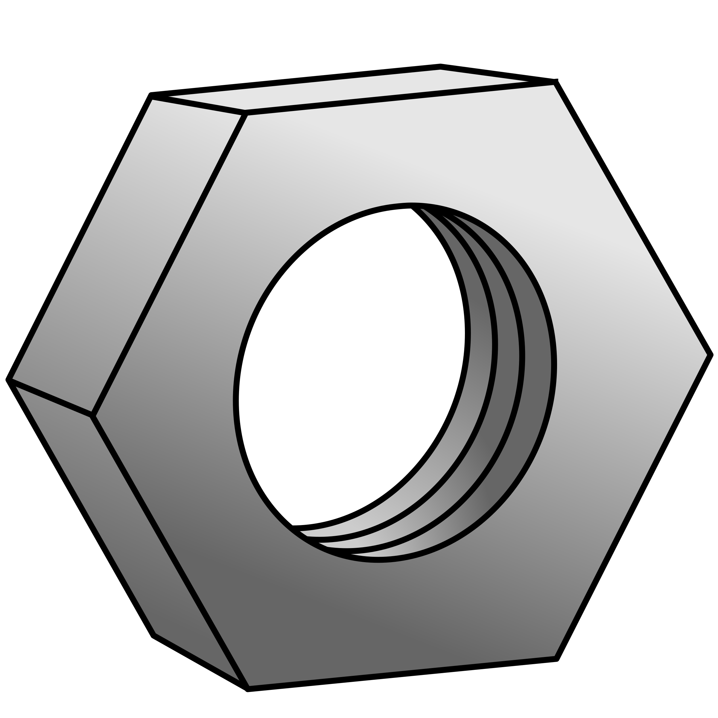 Nut clipart bolt tool. Hex for bolts colorized