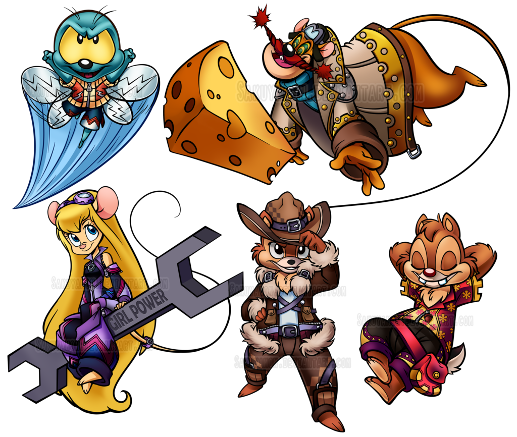 Gadget hackwrench and rescue. Nut clipart chip dale