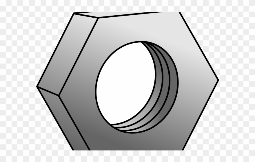 Hexagon nuts and bolt. Nut clipart screw nut