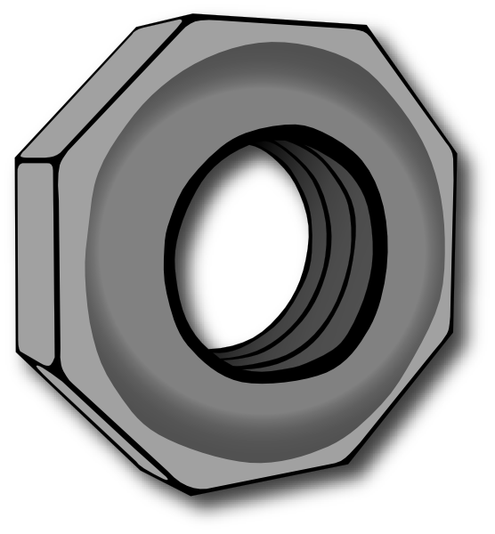 The picture for word. Nut clipart screw nut
