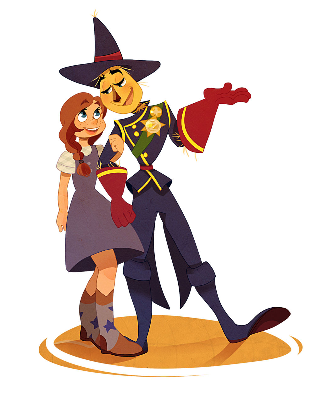 Couples on legendsofozmoviefans deviantart. Scarecrow clipart dorothy