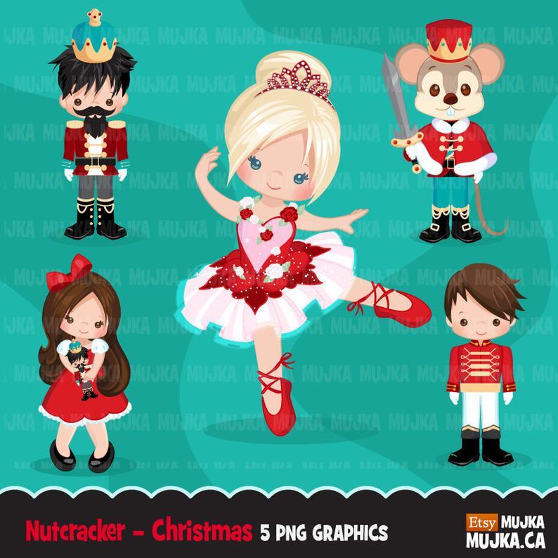 Nutcracker clipart nutcracker character. Christmas ballet characters mouse
