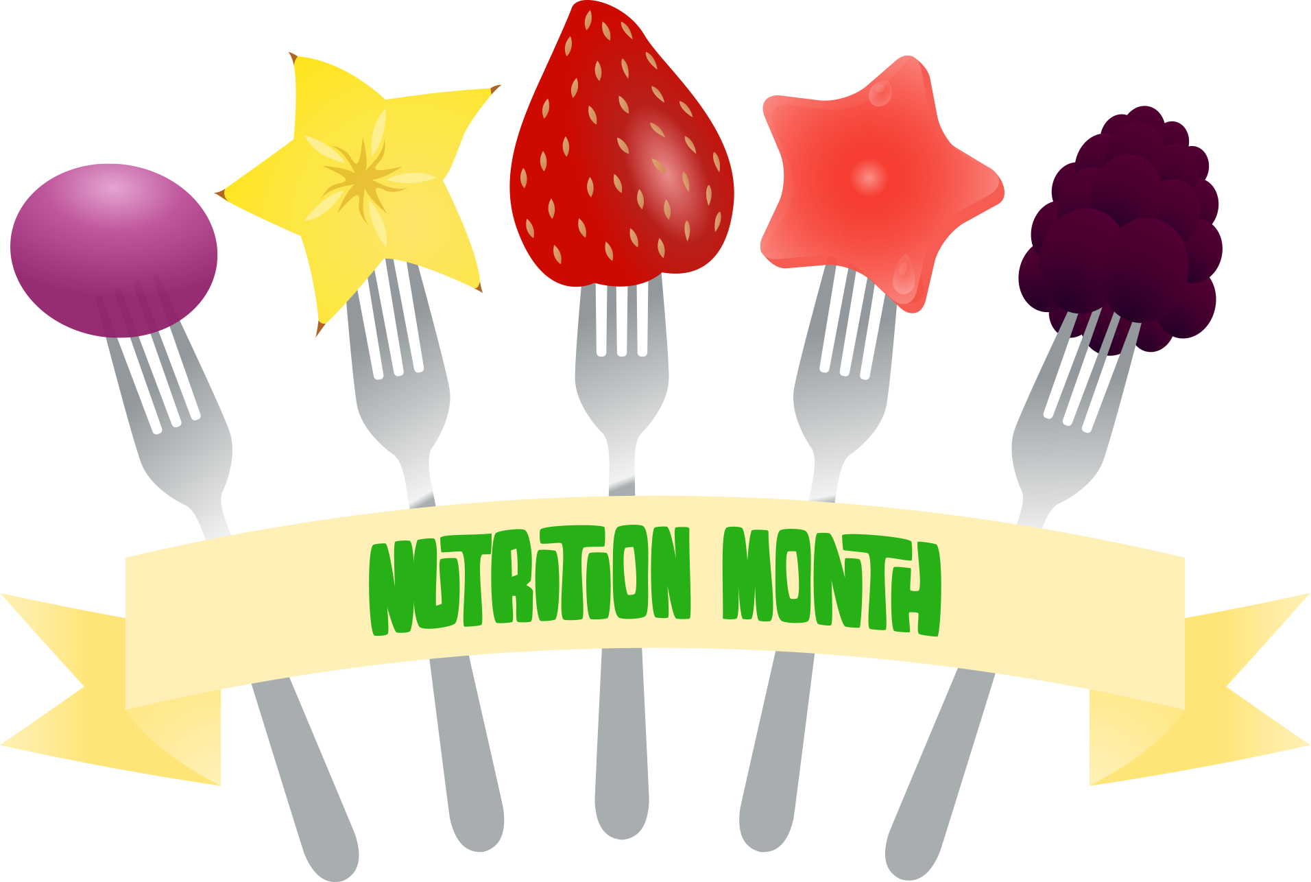 View month fork banner. Diabetes clipart food nutrition