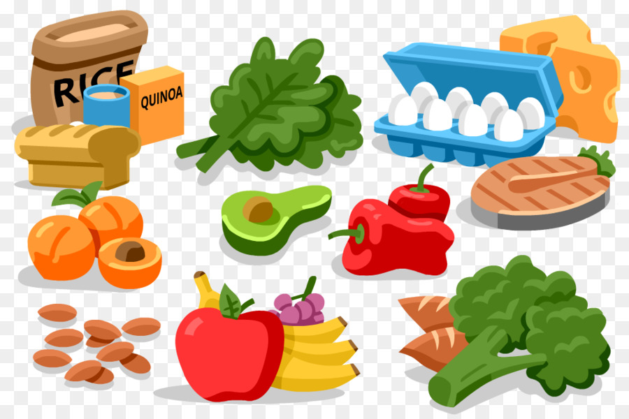 Cartoon food eating . Foods clipart exercise