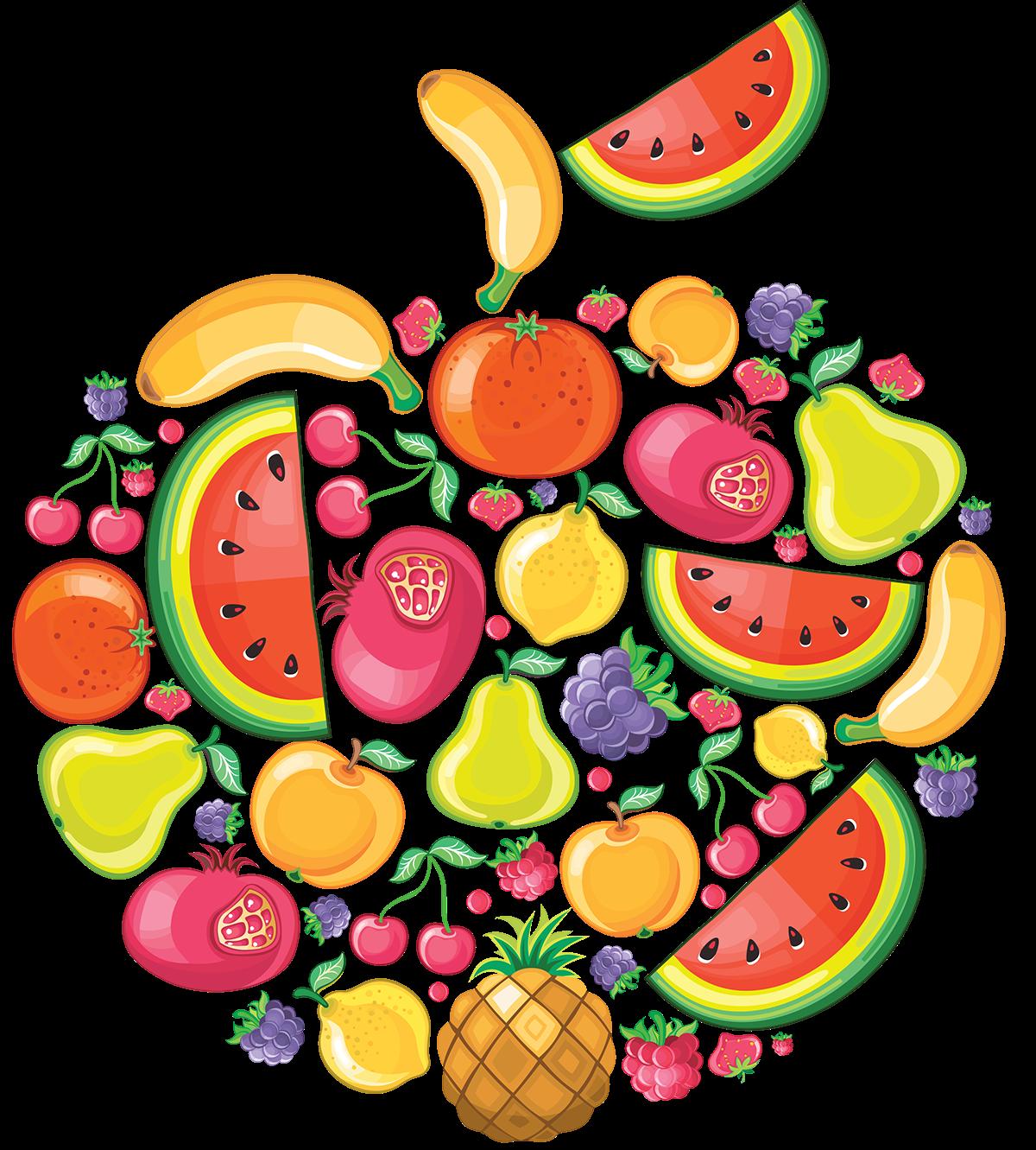 Fruits clip art on. Nutrition clipart group fruit