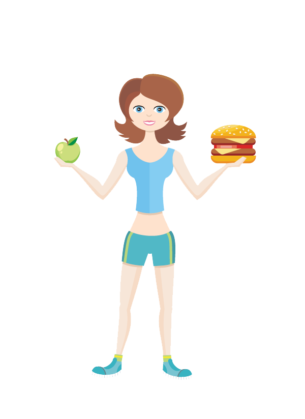 Zone diet the ultimate. Nutrition clipart healthy man