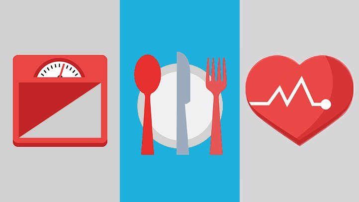 Best and worst diet. Nutrition clipart heart strong