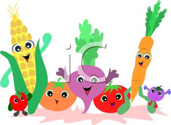 Vegetables clipart cartoon. Iclipart vegetable images legume