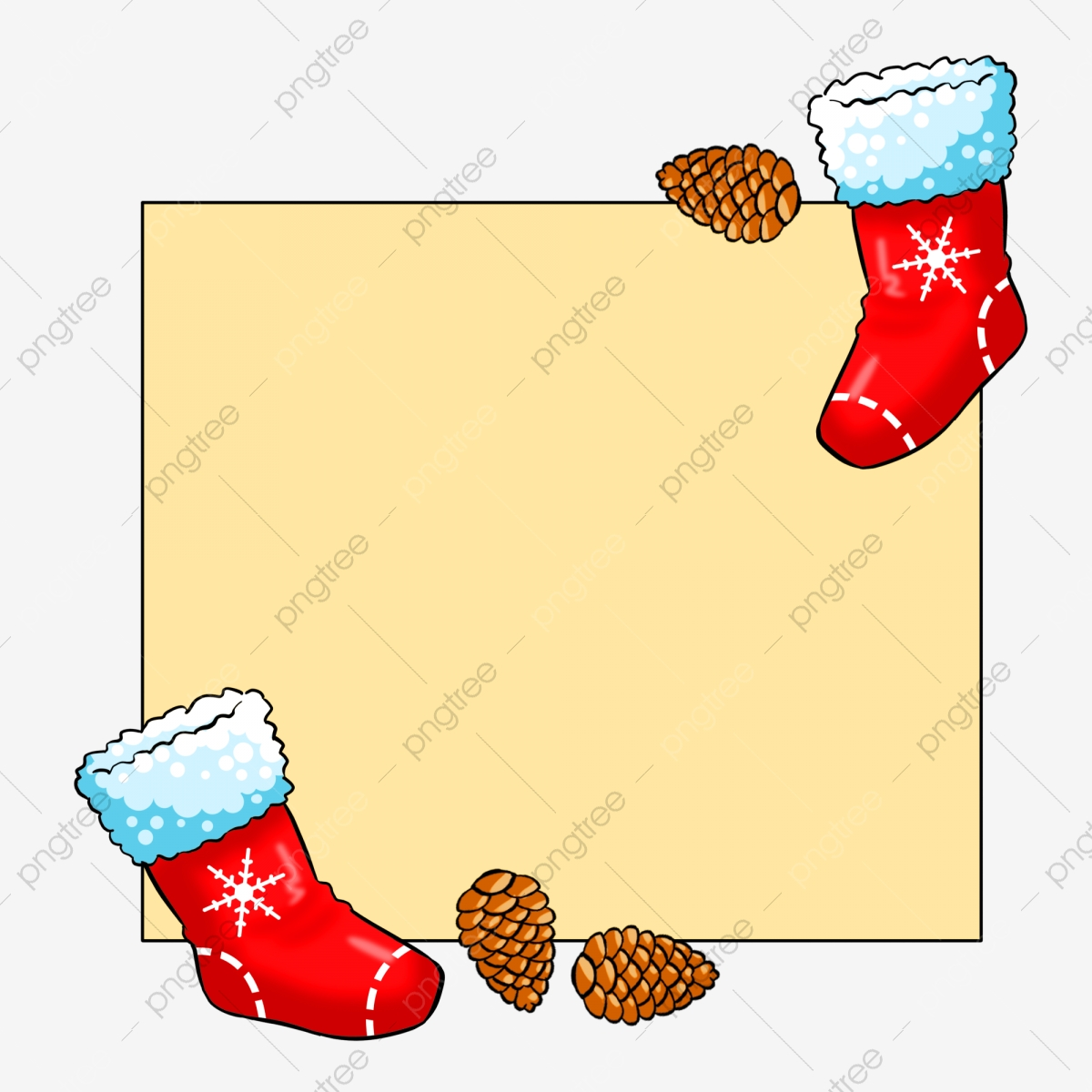 Nuts clipart border. Red sock gourmet pine