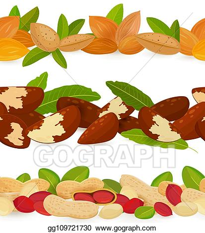 Eps vector collection of. Nuts clipart border