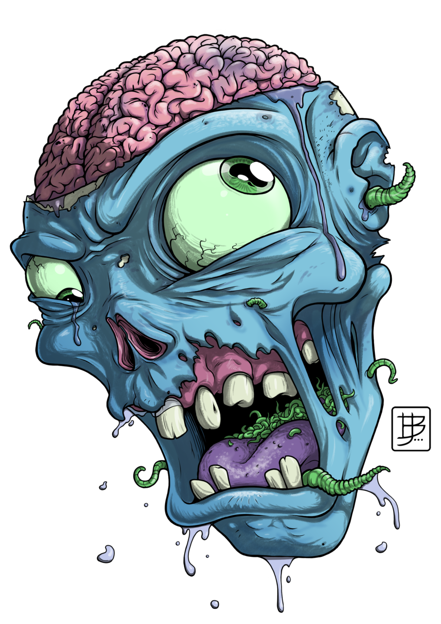Head google search zombi. Zombie clipart mouth