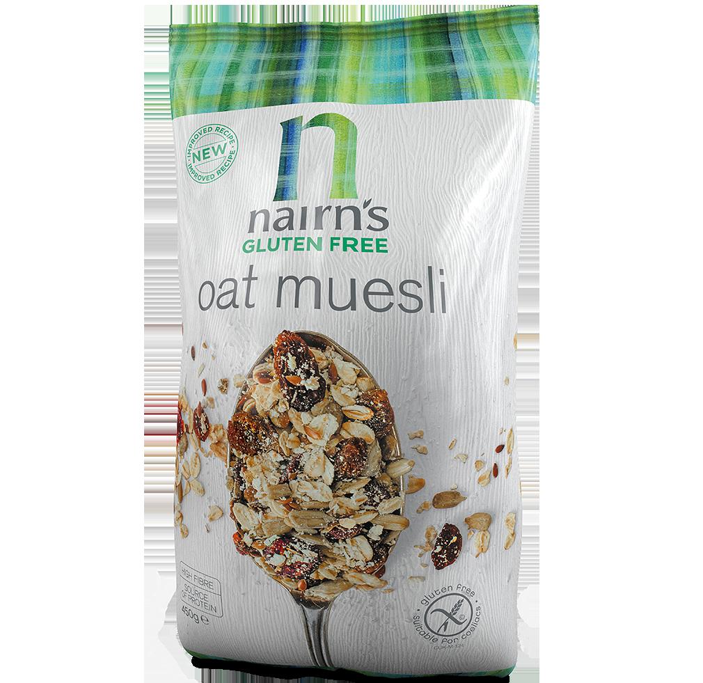 Gluten free oat muesli. Oatmeal clipart cereal milk