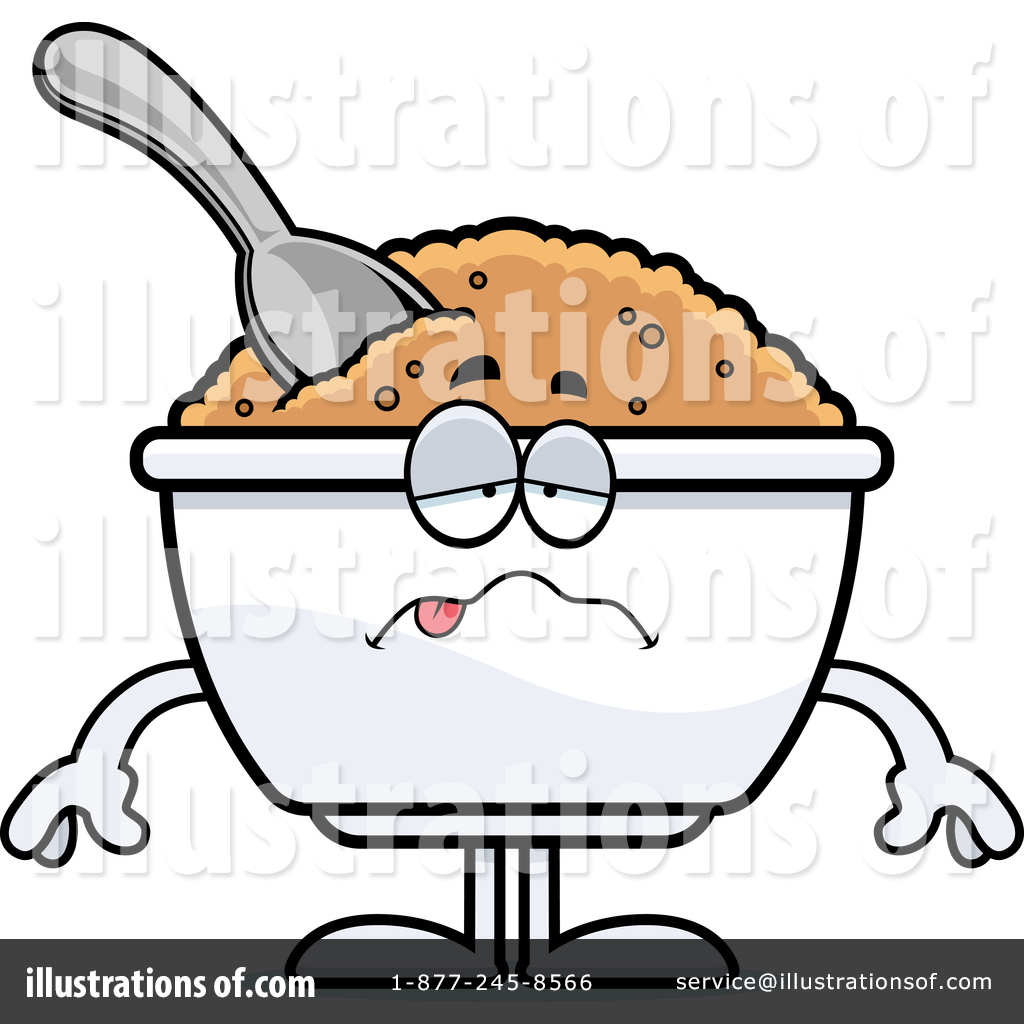 Mascot illustration by cory. Oatmeal clipart oat meal
