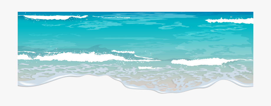 Clipart ocean ocean view. Waves transparent png