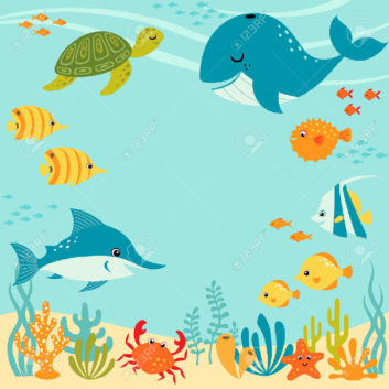 collection of underwater. Ocean clipart