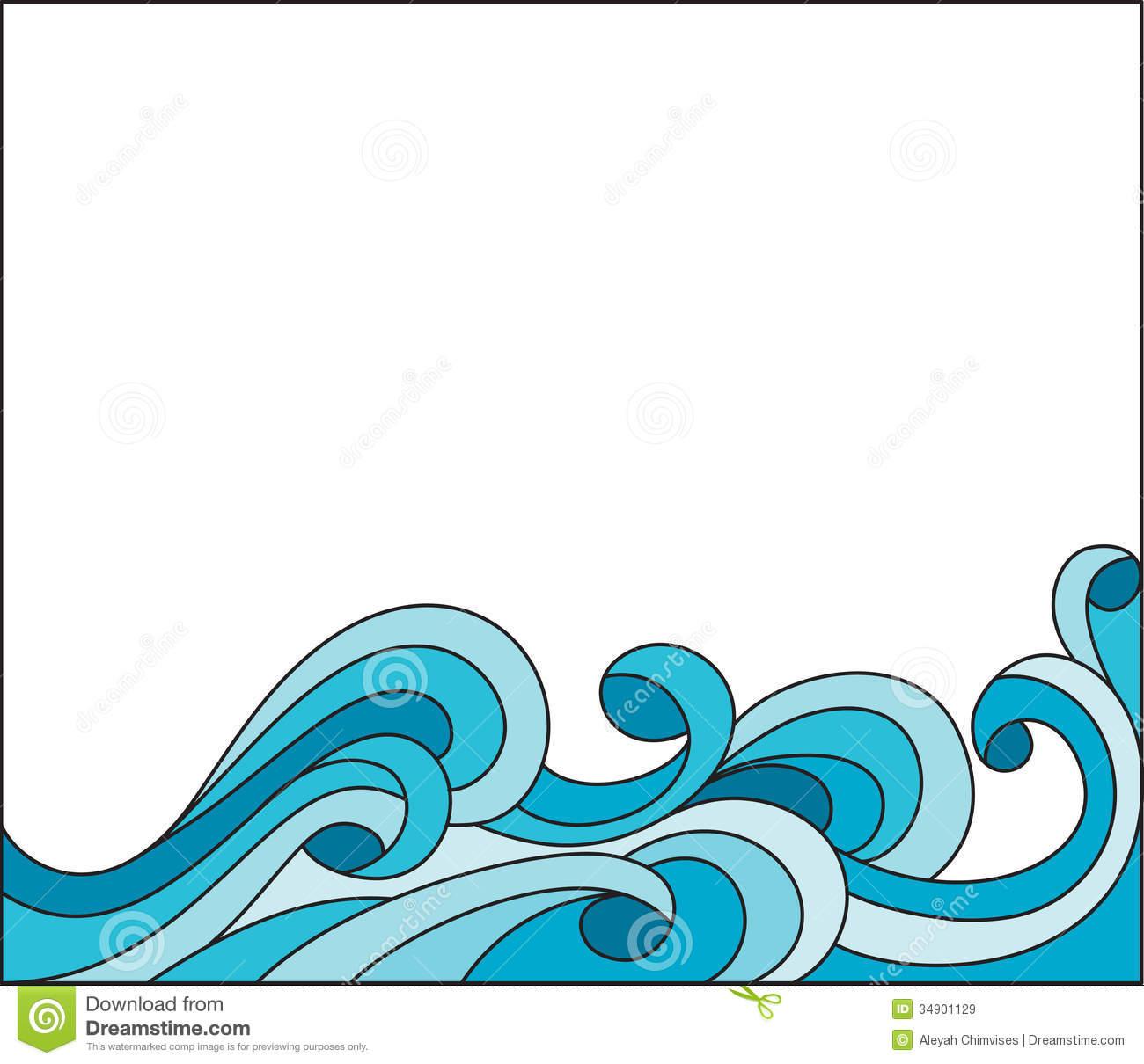Ocean border free download. Raindrop clipart water frame