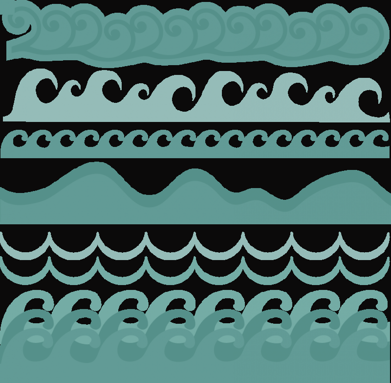 Ocean clipart borders. Clip art wave svg