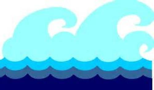 Ocean panda free . Waves clipart cartoon