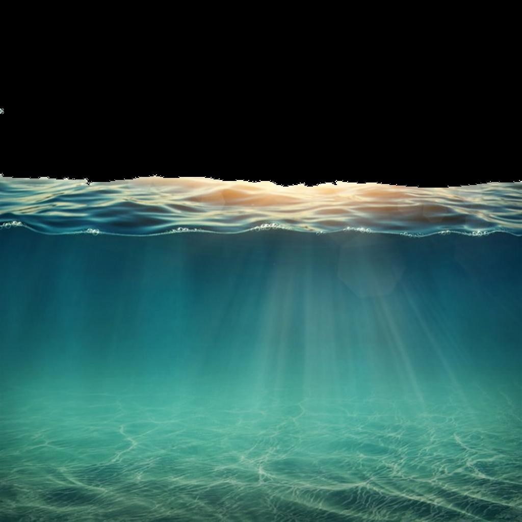 Sea water underthesea sealine. Ocean clipart underwater
