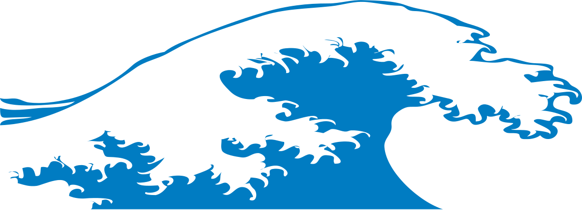 Water wave clip art. Waves clipart three