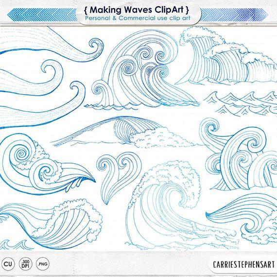 Mermaid surf s up. Ocean clipart wedding