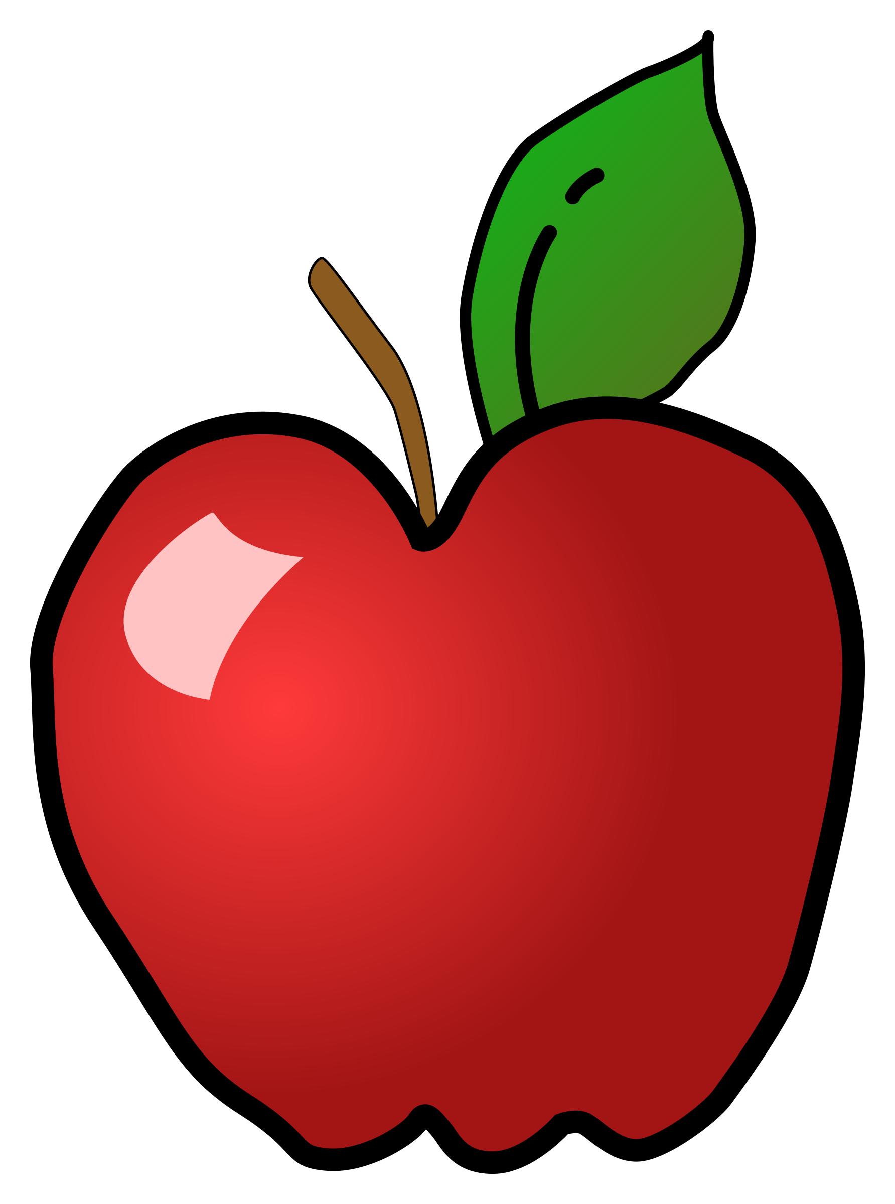 Study clipart strong student. Polished apple icons png