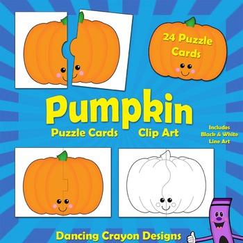October clipart friendly pumpkin. Puzzle cards