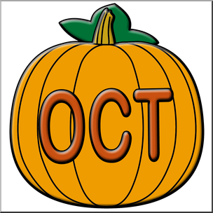 Clip art month icon. October clipart oct