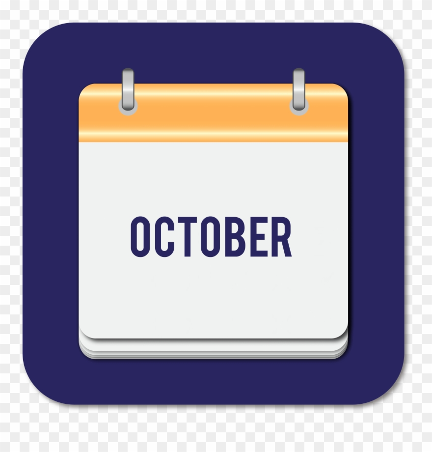 October clipart oct. Calendar icon png