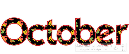 October clipart oct.  free clipartlook
