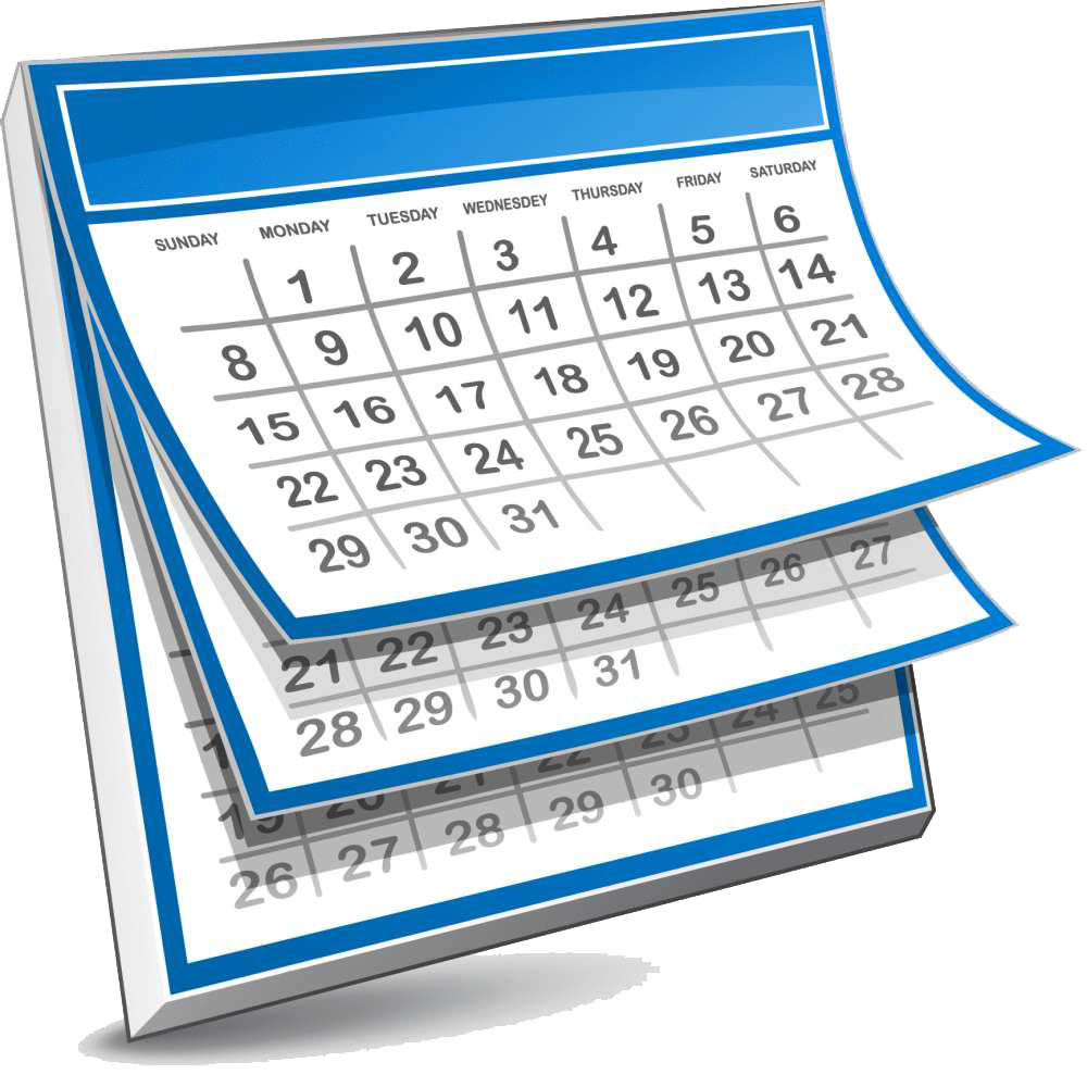 Schedule clipart free clipart. October newsletter st mary