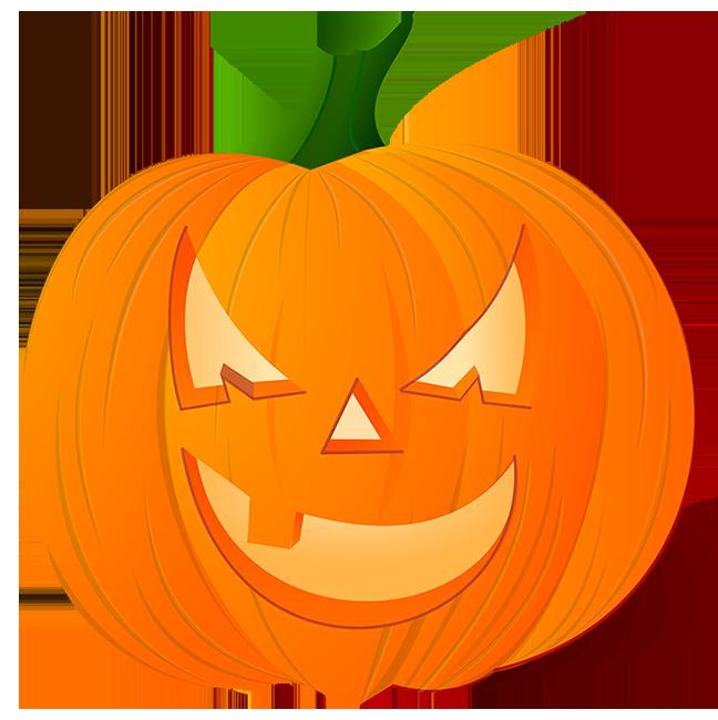 October clipart pumpkin. Happy halloween mean looking