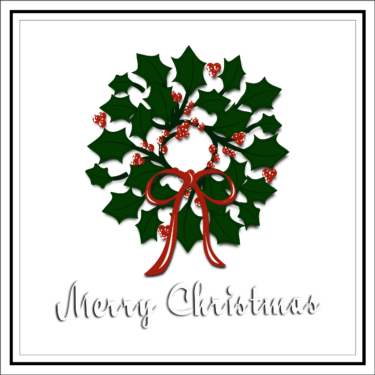 Inkscape christmas free svg. October clipart wreath
