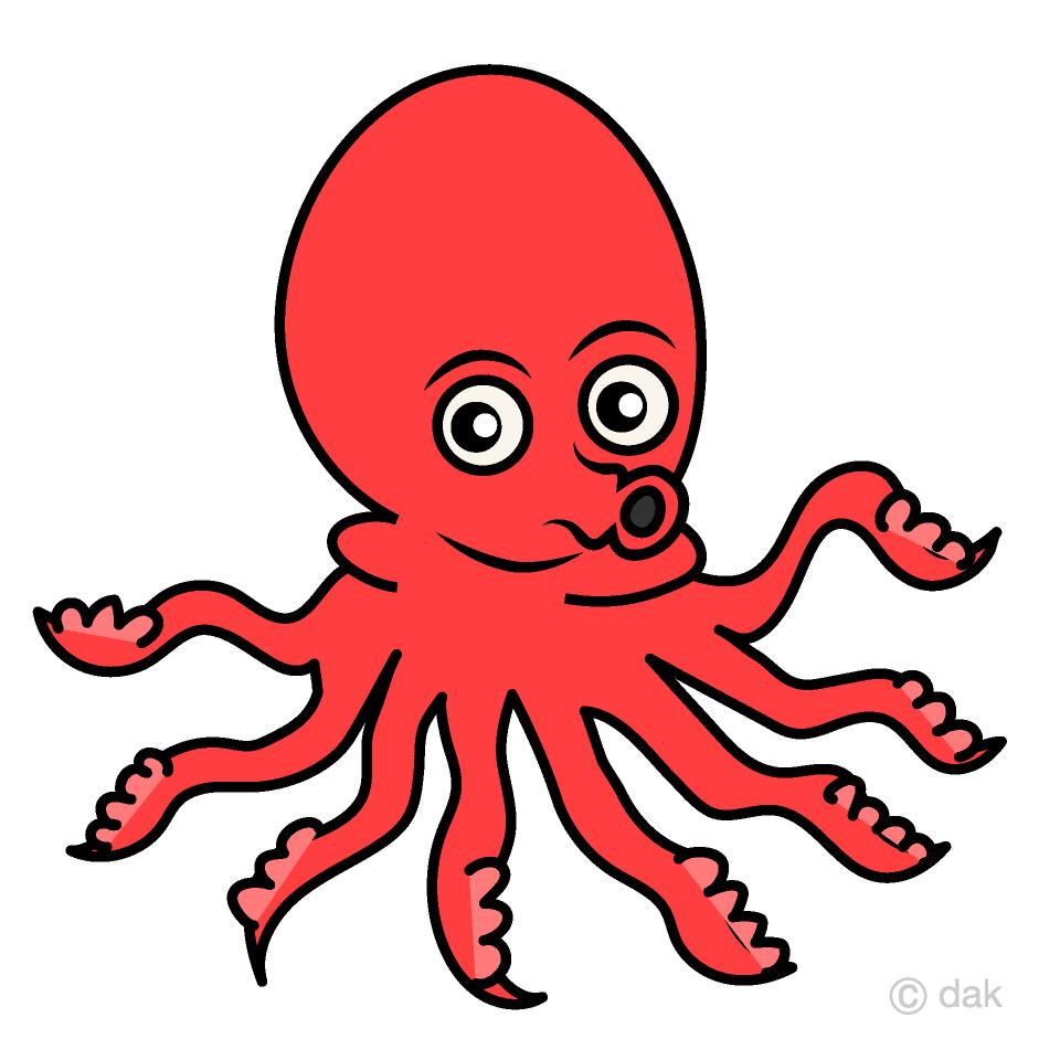 Crab clipart cute octopus. Free picture illustoon
