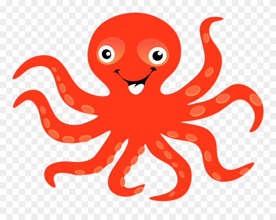Gambar pencil and in. Clipart octopus friendly