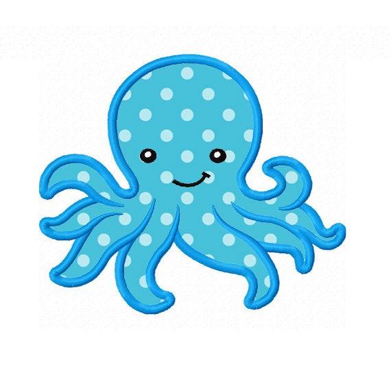 Machine embroidery design no. Octopus clipart applique