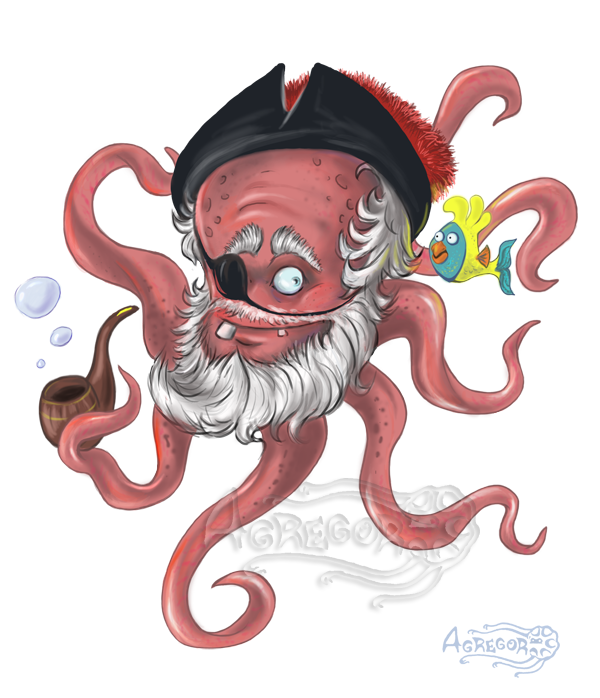 Old by agregor on. Pirates clipart octopus